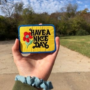 "70's Inspired ""Have A Nice Day"" Patch - 3.5"" x 3"""